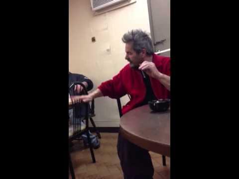2 Sicilians arguing at cafe