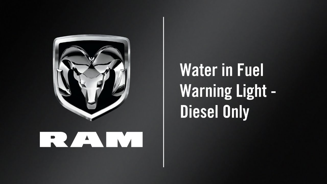 [DHAV_9290]  Water in Fuel Light - Diesel Only | How To | 2019 Ram 2500-3500 - YouTube | 2017 Dodge Dielsel Fuel Filter Warning Light |  | YouTube