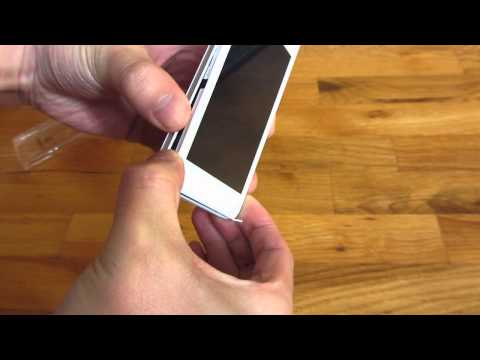 How to open the Sony Xperia M Back Plate and Case