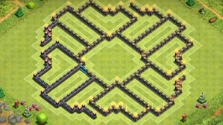 "Clash Of Clans | ""insane"" Town Hall 9 Hybrid Base 