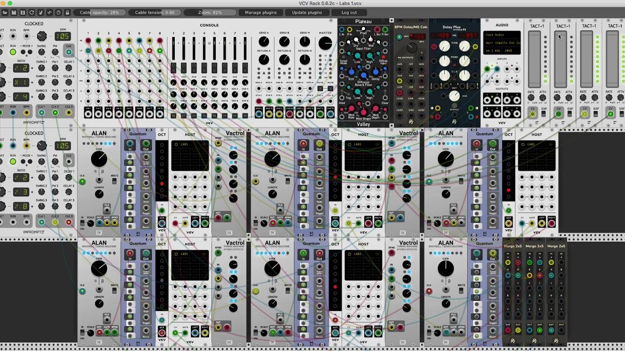 Experiments - Spitfire Audio Labs - VCV Rack