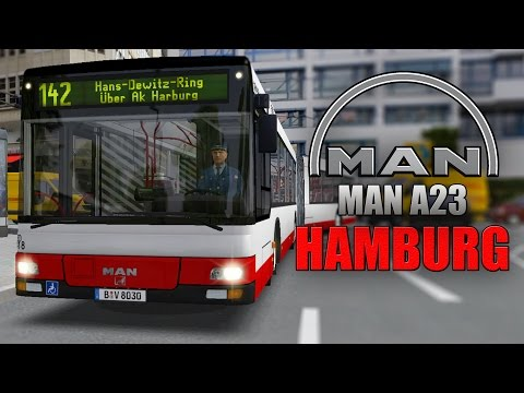 OMSI 2: MAN Stadtbusfamilie #1 - Mit dem MAN Lion's City A23 Gelenkbus durch Hamburg-Harburg!