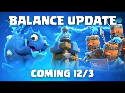 Clash Royale: Balance Update Coming! (12/3)