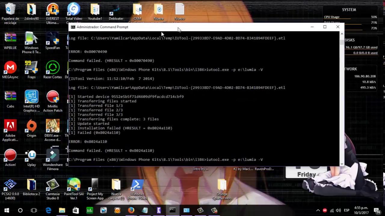 Iutool exe solucion al ERROR: 0x80070490 & 0x8024a110 Windows Phone