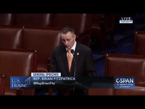 Rep. Brian Fitzpatrick floor speech on climate change