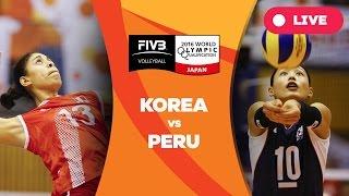 Korea v Peru - 2016 Women's World Olympic Qualification Tournament