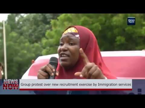 Nigerian Group protest over new recruitment exercise by Immigration service