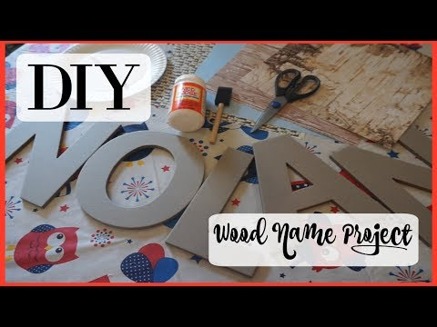 DIY Wooden Name Project!! | Easy Homemade DIY Craft!