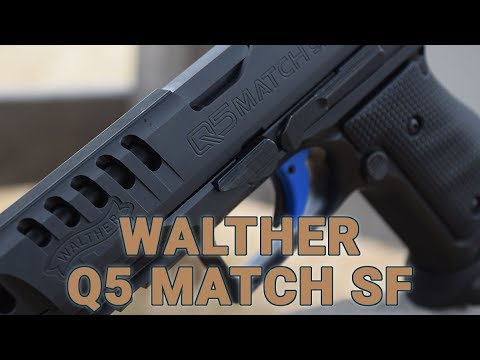 The new Walther Q5 Match SF pistol, an all-steel competition gun