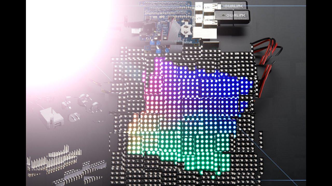 Adafruit RGB Matrix HAT + RTC for Raspberry Pi   Mini Kit  ID ...