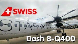 ✈TRIP REPORT | SWISS / Austrian Airlines (Economy) | Stuttgart - Zürich | Bombardier Dash8 Q400