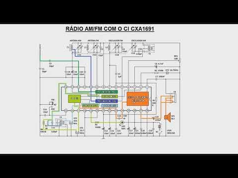 272   Esquema de um rádio AM FM com um único CI