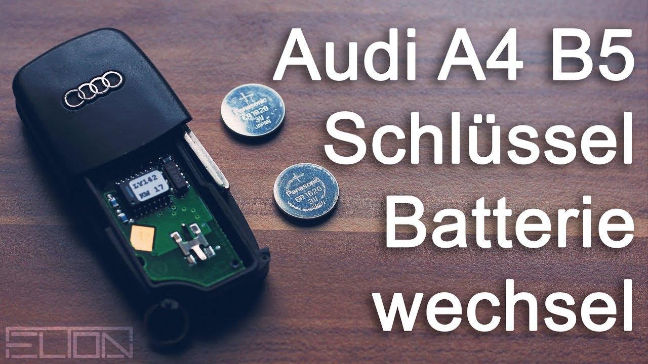 Audi Funkschlussel Batterie Wechseln A4 8d Modell B5 Youtube
