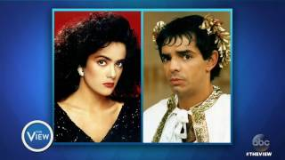 Salma Hayek, Eugenio Derbez on Trump's Wall, Sexy Spanish Translations | The View