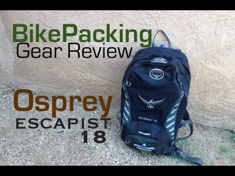 美國代購 OSPREY Escapist 18 單車背包 登山健行背包 紅色 黑色