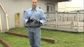 home with eric building a shed part 1 footing and base