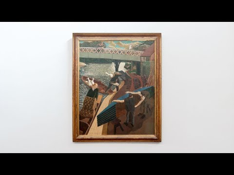 Stanley Spencer - Swan Upping at Cookham - Tate Britain - April 2017