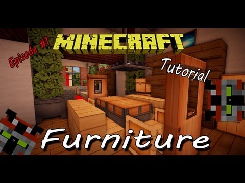 Minecraft Tutorial | Furniture: Ep. 1