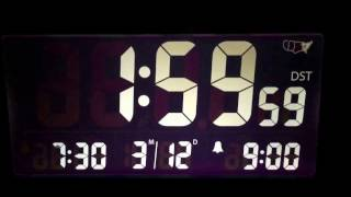 Daylight savings 🔴 time travel change March 12, 2017  Spring Forward Digital Clock