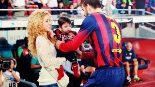 Repeat youtube video Shakira y Milan apoyan a Pique (las mejores imagenes)