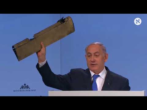 Holding Up Wreckage of Iranian Drone, Netanyahu Warns to Act Against Tehran if Needed