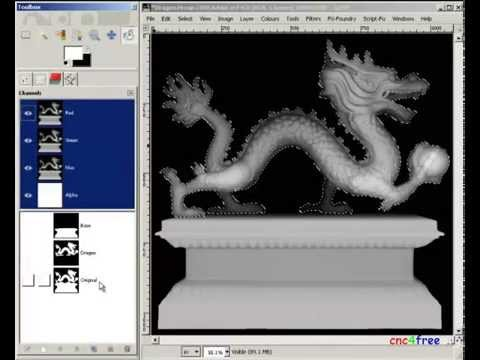3DtoRelief 3D Mesh or scene to CNC bas-Relief Carving - FREE -  Cross-platform - GENERIC