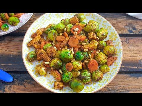 Самый  вкусный рецепт блюда из брюссельской капусты. Веганский рецепт. Брюссельская капуста рецепт