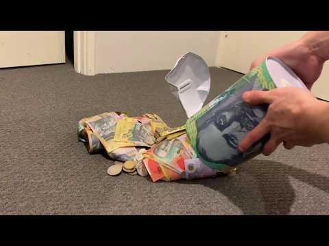Opening BIG Australian Money Tin HUGE Savings