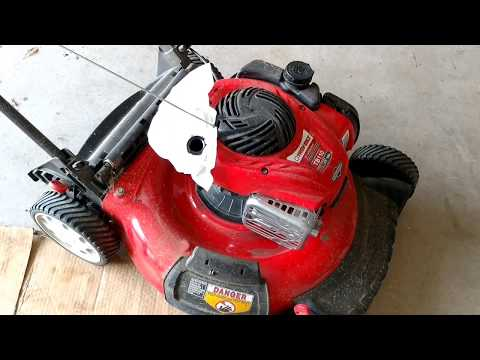 How to Replace the Spark Plug on a Troy-Bilt TB130 Lawn Mower (Part # 98079-55846) | FunnyCat.TV