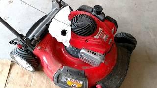 Change Oil, Spark Plug & Air Filter. Briggs & Stratton 550EX, Troy-Bilt TB110 Push Mower