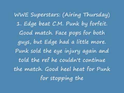 WWE SUPERSTARS SPOLIERS 7/2/09 (HQ)