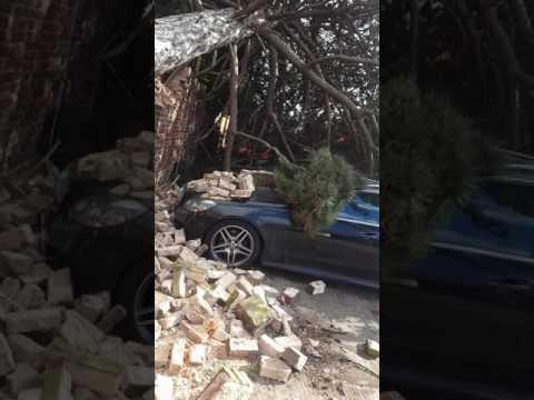 Storm Doris destroys brand New Mercedes-Benz