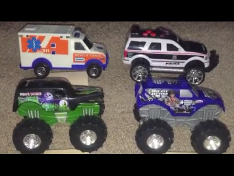 Learning Colors with Toys Trucks Trains for Kids Children Toddlers