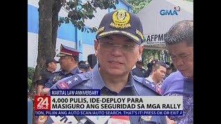 4,000 pulis, ide-deploy para masiguro ang seguridad sa mga rally