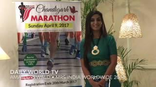 Mrs India Worldwide Is Running for Chandigarh at the Daily World Marathon