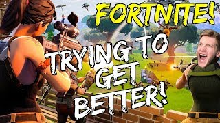 GETTING BETTER AT FORTNITE! COME WATCH! (Paranoid Gamer $10)