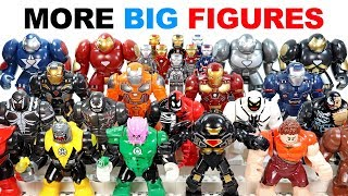 Iron Man Hulkbuster Carnage Venom Riot Wreck it Ralph Green Lantern Groot Unofficial Lego BigFigs