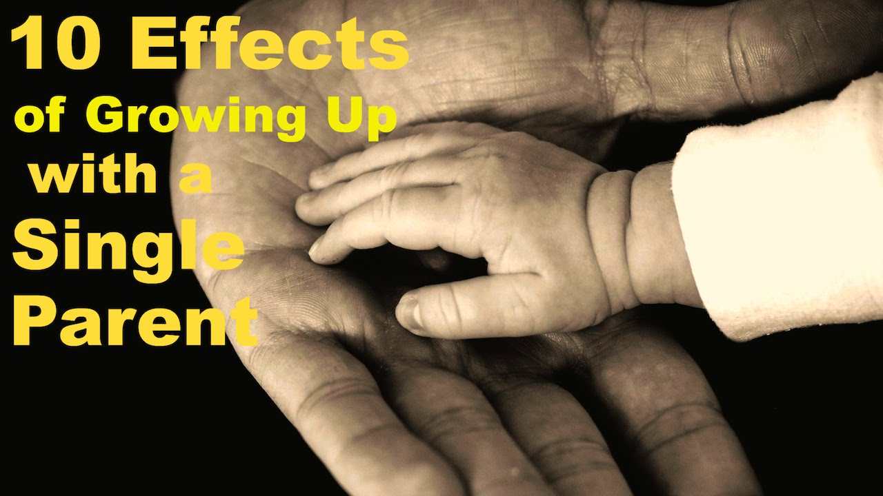 effects of growing up with a single parent essay Growing up in a single-parent family with the divorce rate as high as it is, more and more children are growing up in single-parent families ideally, it is better for.