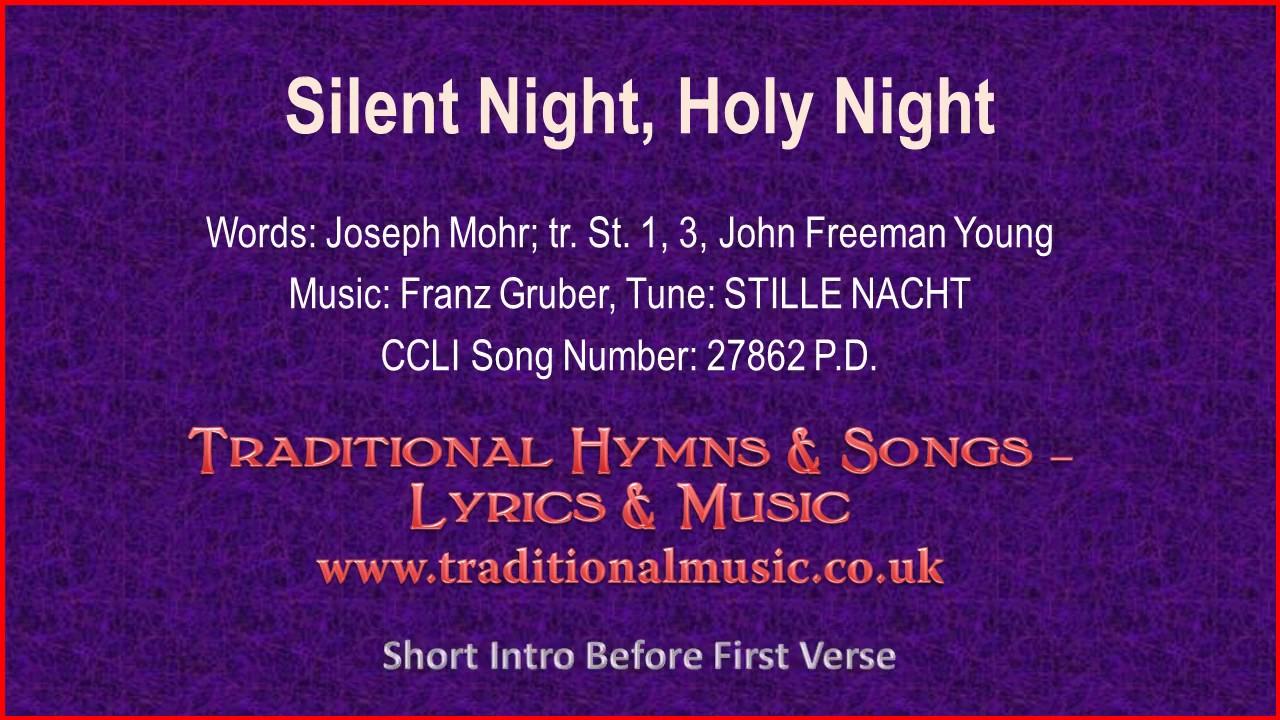 Silent Night, Holy Night(BH091~Mp597)-Christmas Carol, Lyrics ...
