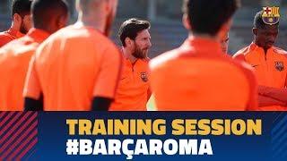 BARÇA 4-1 ROMA | Last training session before Champions League match