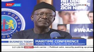Dr. Mukhisa Kitiyi speaking at Maritime Conference in Mombasa Kenya