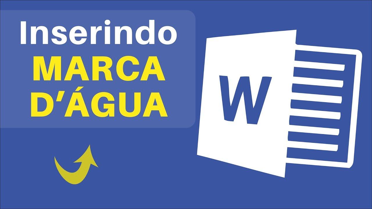 Como Colocar MARCA D ÁGUA no Word Passo a Passo   Fácil - YouTube eb54977328