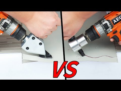 2 Awesome Drill Attachment ! Metal Sheet Cutter Test