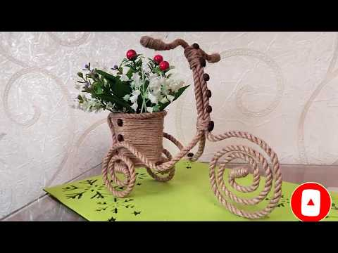 Велосипед из веревки за 10 минут. Отличный подарок маме на 8 марта. DIY/рукоделие