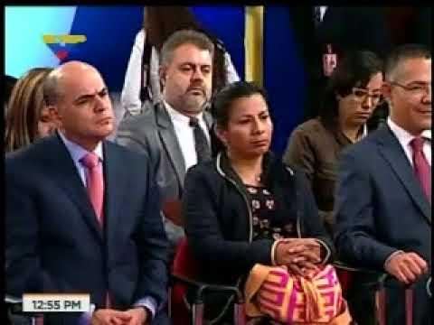 El carómetro de los periodistas durante la rueda de prensa de Maduro