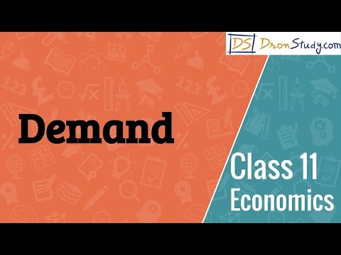 Demand : Economics I Commerce Class 11 XI | Video Lecture in Hindi