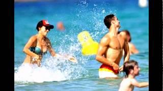 شاهد ماذا يفعل كريستيانو رونالدو مع صديقته إيرينا شايك في البحر