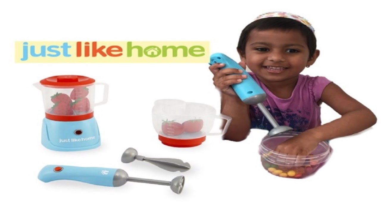Just Like Home Toy Blender : Playtoy play kitchen just like home deluxe blender