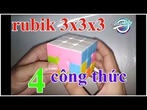 VTM – Hướng dẫn chơi rubik 3x3x3 đơn giản chỉ cần 4 công thức (dành cho người mới bắt đầu)