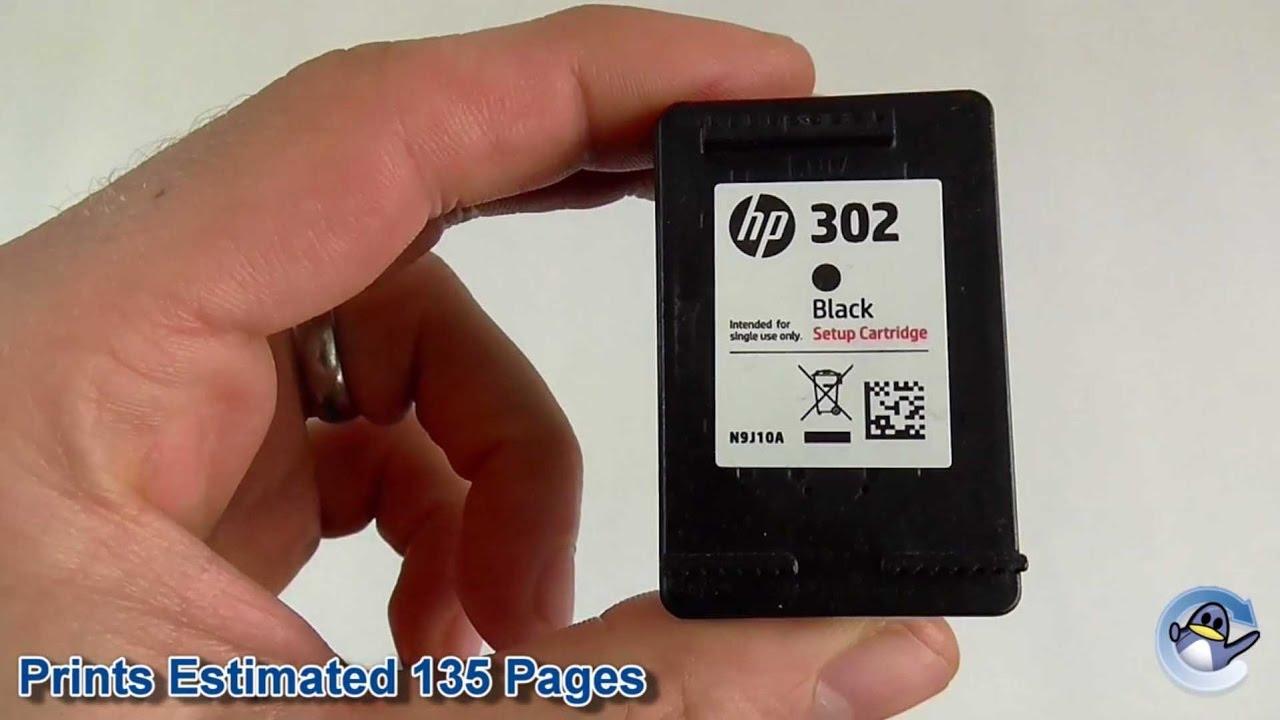 Inside HP 302 Black Setup Ink Cartridge